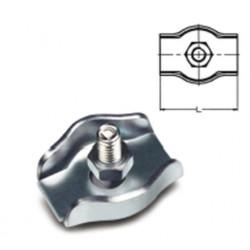 Sujetacable Plano Simple M04 Acero Cinc Sps204 Damesa 100 Pz