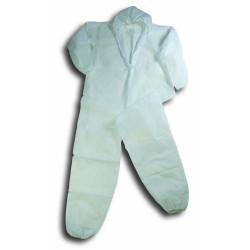 Buzo Polipropileno Desechable Con Capucha Blanco T-l Eskubi