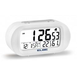 Reloj Despertador Termometro Y Luz Elbe Bl Rd-009-b