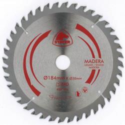 Disco Corte Mad 40 Dientes 184mm Eje 20 Para Sierra Circular