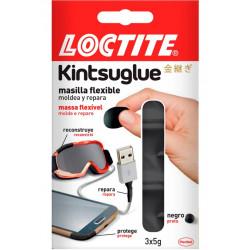 Masilla Adh Rep 3x5gr Neg Flex Moldeable Kintsuglue Loctite