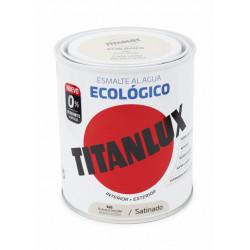 Esmalte Acril Sat. 750 Ml Bl/pie Al Agua Ecologico Titanlux
