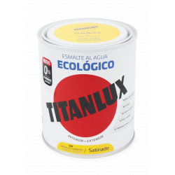 Esmalte Acril Sat. 750 Ml Am/lum Al Agua Ecologico Titanlux