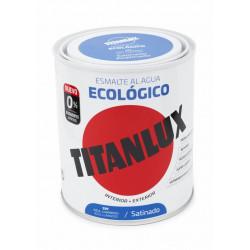 Esmalte Acril Sat. 750 Ml Az/lum Al Agua Ecologico Titanlux