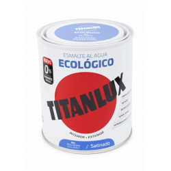 Esmalte Acril Sat. 750 Ml Az/indi Al Agua Ecologico Titanlux