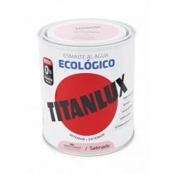Esmalte Acril Sat. 750 Ml Ros/fram Al Agua Ecologico Titanlu