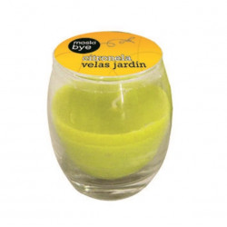 Vela Jard Citron. Flower Crist Vaso