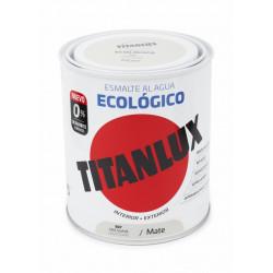 Esmalte Acril Mate 750 Ml Gr/sua Al Agua Ecologico Titanlux