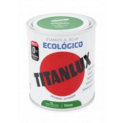 Esmalte Acril Mate 750 Ml Ver/pri Al Agua Ecologico Titanlux