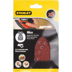 Hoja Lija Mouse Perfor. Gr40 Stanley 5 Pz