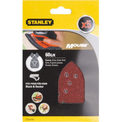 Hoja Lija Mouse Perfor. Gr60 Stanley 5 Pz