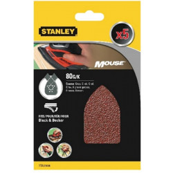 Hoja Lija Mouse Perfor. Gr80 Stanley 5 Pz