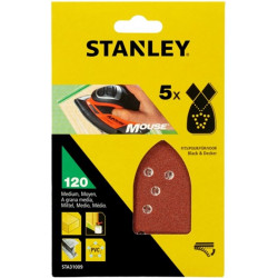 Hoja Lija Mouse Perfor. Gr120 Stanley 5 Pz