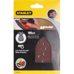 Hoja Lija Mouse Perfor. Gr180 Stanley 5 Pz