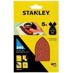 Hoja Lija Mouse Perfor. Gr280 Stanley 5 Pz