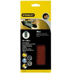 Hoja  Lija Orbital No Perforadas 093x230mm Gr40 Stanley 5 Pz