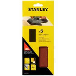 Hoja Lija Orbital No Perforadas 093x230mm Gr80 Stanley 5 Pz