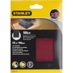 Hoja Lija Orbital No Perforadas 115x140mm Gr60 Stanley 10 Pz