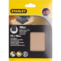 Hoja Lija Orbital No Perforadas 115x140mm Gr150 Stanley 10 P