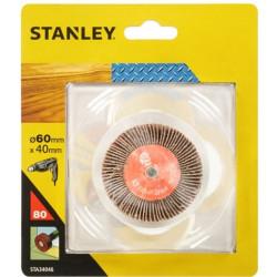 Cepillo Para Taladro Hojas Lija 060x040mm Gr80 Stanley