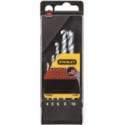 Broca Piedra 4-5-6-8-10mm Stanley 5 Pz