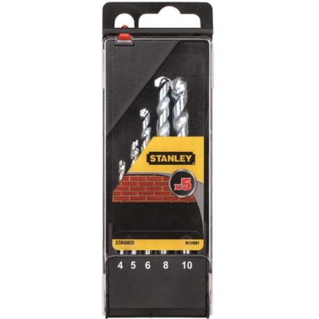 Broca Piedra 4-5-6-8-10mm Stanley 5 Pz