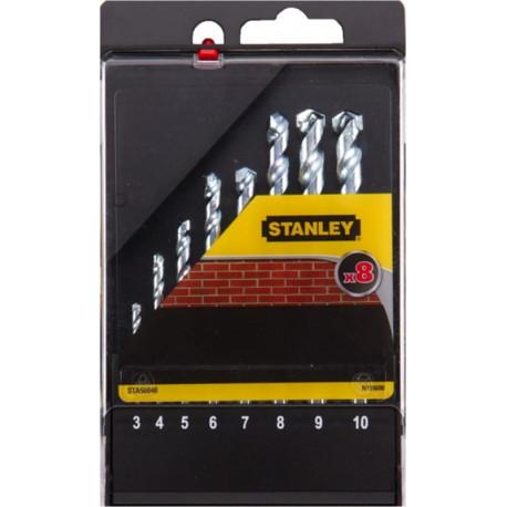 Broca Piedra 03-10mm Stanley 8 Pz