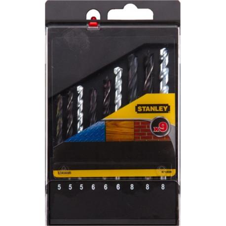 Broca Metal/piedra/madera 5-6-8mm Stanley 9 Pz
