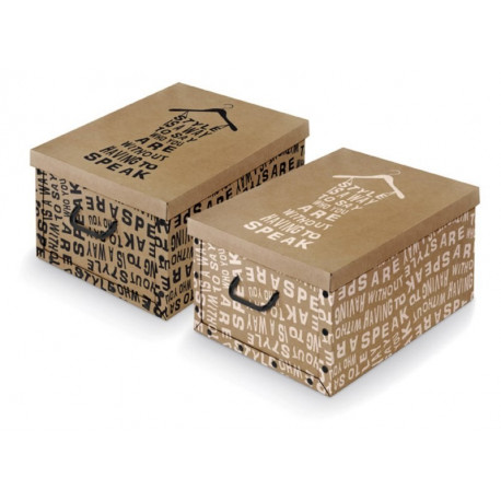 Caja Orden Multi 39x50x24cm Con Asa Carton Surt Kraft Domopa
