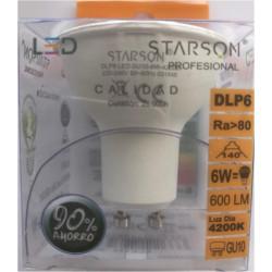 Lampara Ilumin Led Dicr Gu10 6w 600lm  4200k Starson