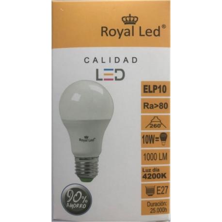 Lampara Ilumin Led Estan E27 10w 1000lm  4200k Royal Led