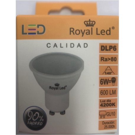 Lampara Ilumin Led Dicr Gu10 6w 600lm  4200k Royal Led