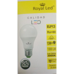 Lampara Ilumin Led Estan E27 13w 1300lm 3000k Royal Led