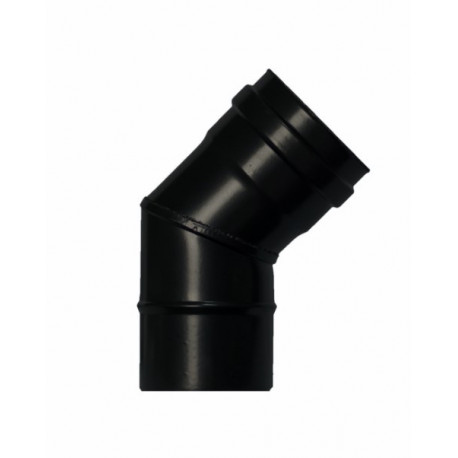 Codo Estufa Pellet 45§ Ø80mm A/esm/vitr. Ne Exojo