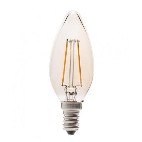 Lampara Ilumin Led Vela Filamento E14 4w 350lm 2200k Vintage