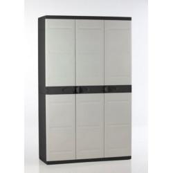 Armario Orden 105x44x176cm 4b Neg/bei Res Titanium Plastiken