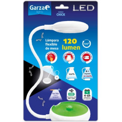 Flexo Sobrem 120lm 6000k Bl/ve Led Usb/pilas Chick Garza