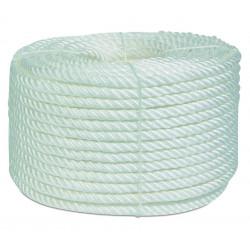 Cuerda Polipropileno Torcida 4 Cabos 16mm Blanco Rollo 100m