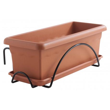 Jardinera 50cm+plato47cm+ Soporte Balcon