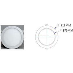 Foco Downlight Led 20w 4000k-bl Sup. Rdo Gort Silver Elect.