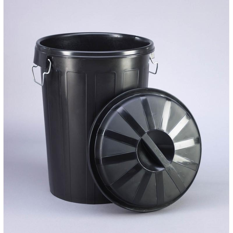 Cubo basura industrial con tapa 95 litros 23187 - Cubos de basura industriales ...