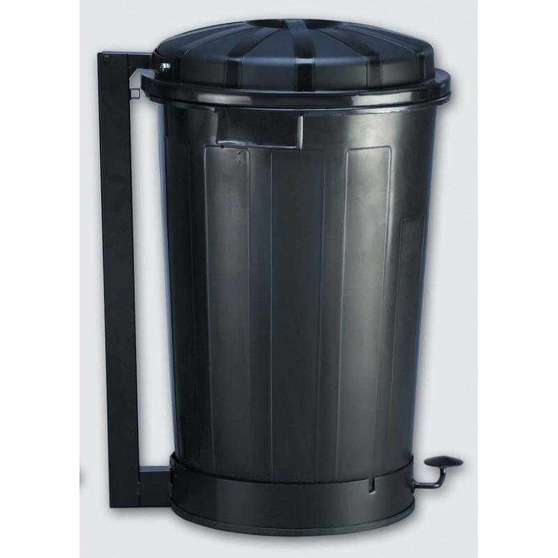 Cubo basura industrial con pedal 95 litros 23190 negro - Cubos de basura industriales ...