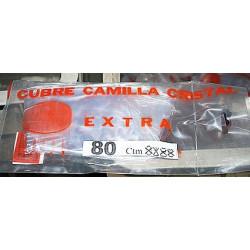 Cubre Camilla Cristal Con Vivo 0,90 Cm.