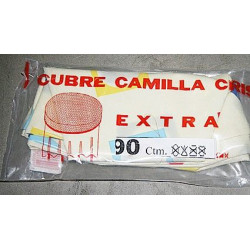 Cubre Camilla Semihule Estampado 0,80 Cm.