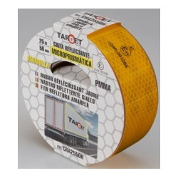 Cinta Adh 50mmx 25mt Señalizacion Autom Retroref Ama Target