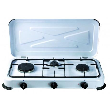 Cocina Portatil 580x330x90mm 1,4/1,2/0,85 Kw A Gas Vivah 3 F