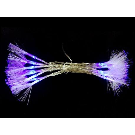 Luz Navidad Flash Led 20 Luces Fibra Opt. Azul Juinsa 240 Cm
