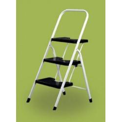 Escalera Dom Tijera 0,67mt 3 Peldaños B/baja Acero Bl Vervi