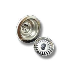 Valvula Fregadero Plastico Blanca/inox 113mm Saneaplast