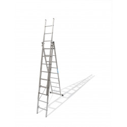 Escalera Triple Con Base 12x3 8,22 Metros